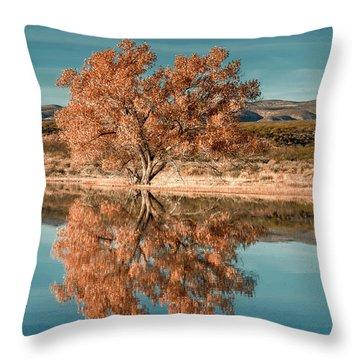 Cotton Wood Tree  Throw Pillow
