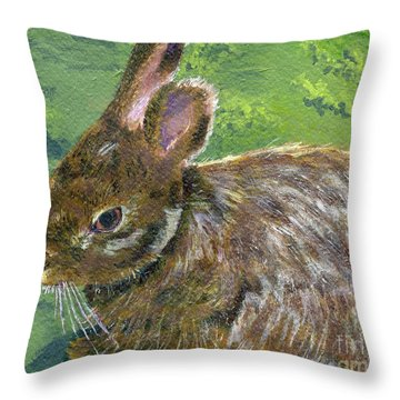 Cottontail Throw Pillow by Lynne Reichhart