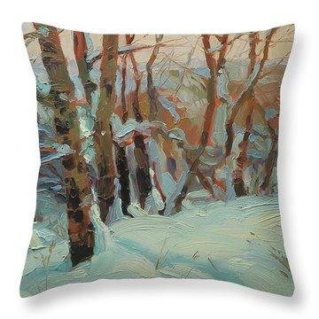 Cottonwood Grove Throw Pillow