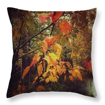 Cottonwood Leaves Throw Pillow