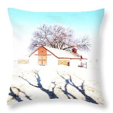 Cottonwood Ranch, Kansas Throw Pillow