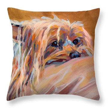 Couch Potato Throw Pillow by Kimberly Santini