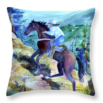 Cougar Rock Throw Pillow