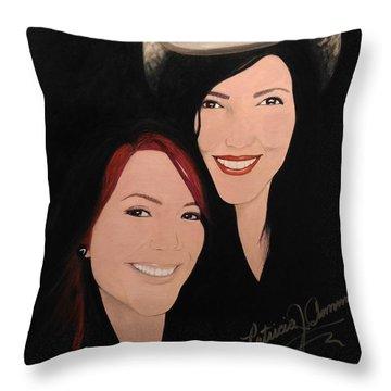 Cougrzz Rock Duo Throw Pillow