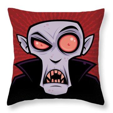 Count Dracula Throw Pillow by John Schwegel