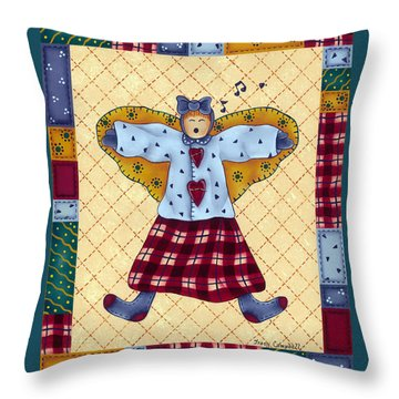 Count Your Blessings Throw Pillow by Tracy Campbell