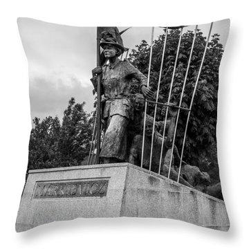 Countess Markievicz Statute Throw Pillow by Martina Fagan