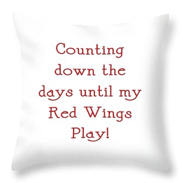 Counting The Days 1 Throw Pillow by Andee Design