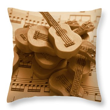 Country And Western Guitars. Music Education Throw Pillow