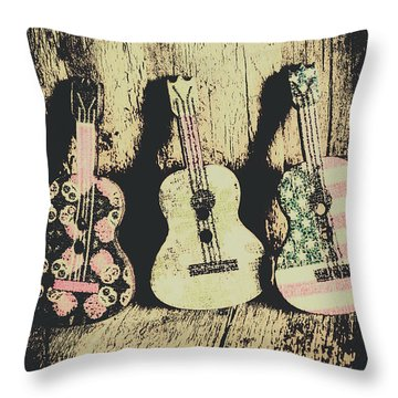 Country And Western Saloon Songs Throw Pillow