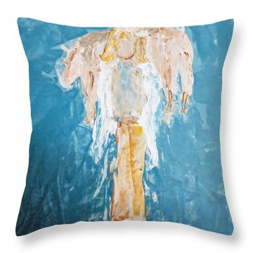 Country Angel Throw Pillow