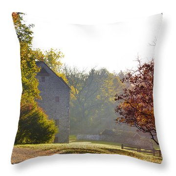 Country Autumn Throw Pillow by Bill Cannon
