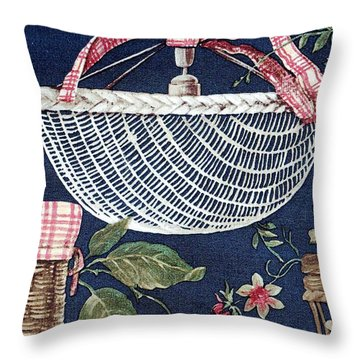 Country Basket Throw Pillow