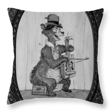 Country Bear Throw Pillow