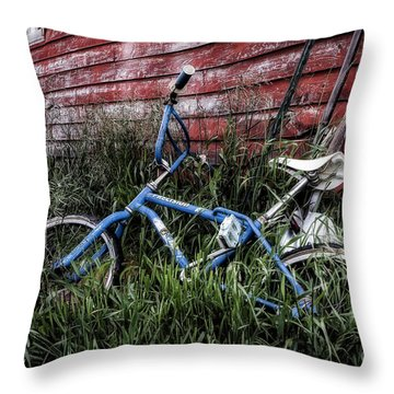 Throw Pillow featuring the photograph Country Bicycle by Brad Allen Fine Art