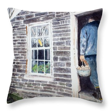 Country Breakfast Throw Pillow