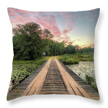 Country Bridges Throw Pillow