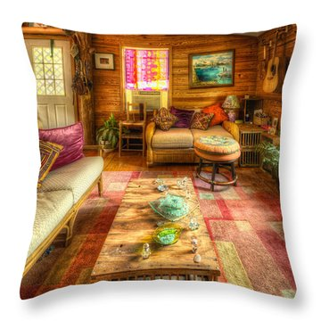 Country Cabin Throw Pillow