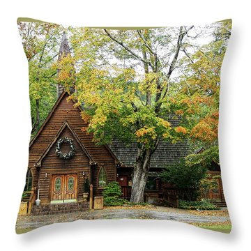 Country Chapel Throw Pillow by Jerry Battle