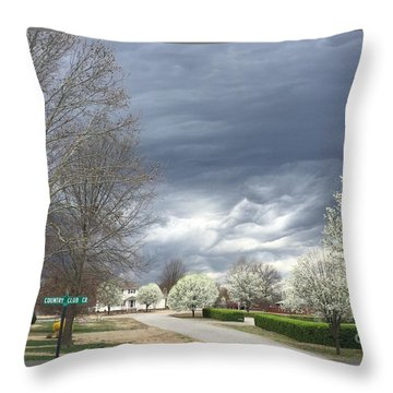 Country Club Circle Throw Pillow