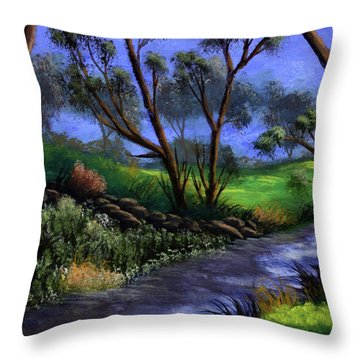 Country Club View Throw Pillow