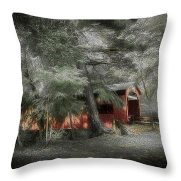 Throw Pillow featuring the photograph Country Crossing by Marvin Spates