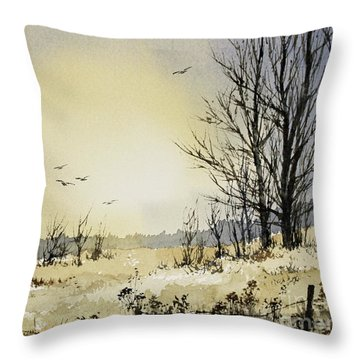 Throw Pillow featuring the painting Country Dawn by James Williamson