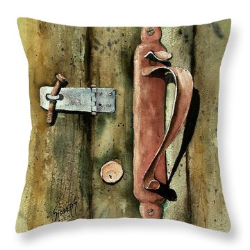 Country Door Lock Throw Pillow