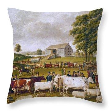 Country Fair, 1824 Throw Pillow by Granger