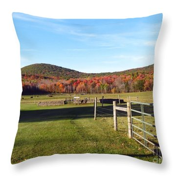 Country Farm And Family Plot Throw Pillow
