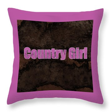 Country Girl Pink Throw Pillow