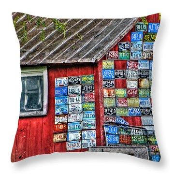Country Graffiti Throw Pillow