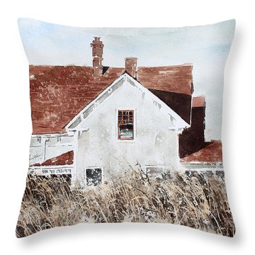 Country Home Throw Pillow by Monte Toon