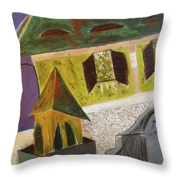 Country House Throw Pillow by Manuela Constantin
