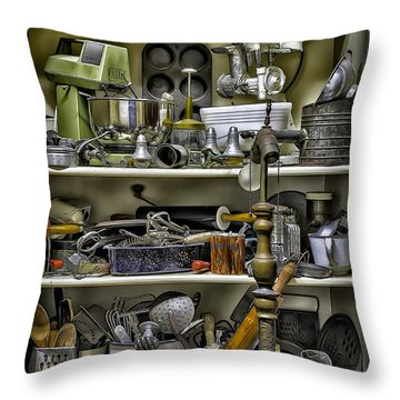 Country Kitchen Pantry Throw Pillow