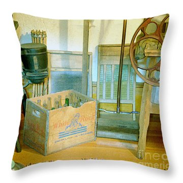 Throw Pillow featuring the painting Country Kitchen Sunshine II by RC deWinter