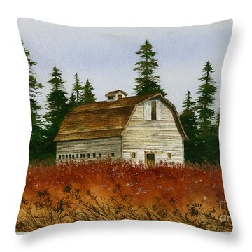 Throw Pillow featuring the painting Country Landscape by James Williamson