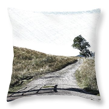 Country Lane Throw Pillow by RKAB Works