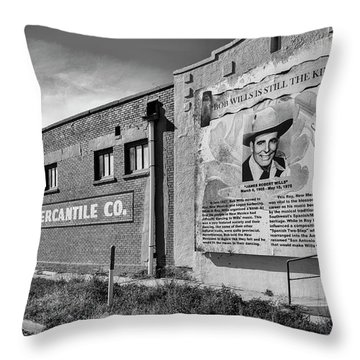 Country Legend Bob Wills In Roy New Mexico Throw Pillow