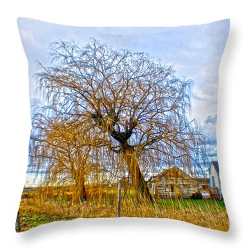 Country Life Artististic Rendering Throw Pillow