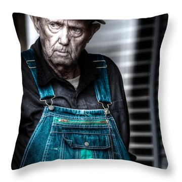 Country Man Throw Pillow by D Wallace