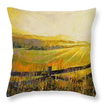 Country Meadow Throw Pillow