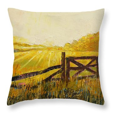 Country Meadow Throw Pillow by Michael Creese