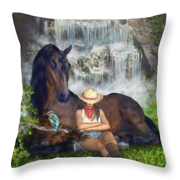 Country Memories 1 Throw Pillow