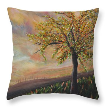 Country Morn Throw Pillow