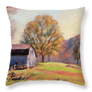 Country Morning Throw Pillow