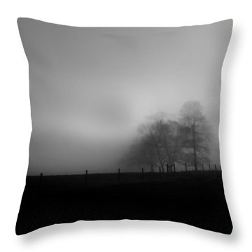 Throw Pillow featuring the photograph Country Morning Vision Georgia Usa by Sally Ross