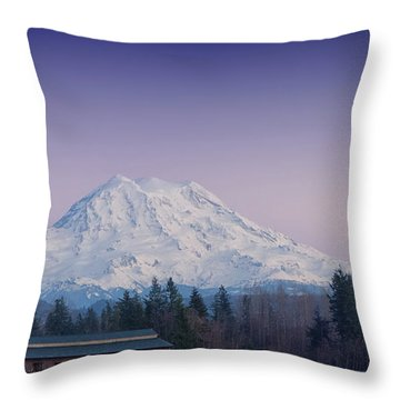 Country Moutain Throw Pillow