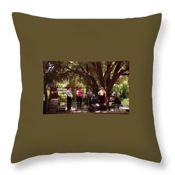Country Music California Stage Throw Pillow by Ted Pollard