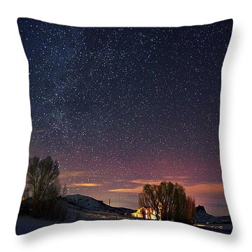 Country Night Life Throw Pillow by Matt Helm
